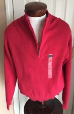 Nwt Greg Norman Red Half Zip Ribbed Golf Sweater Men's M