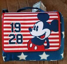 "2017 Disney Store Mickey Mouse Americana Picnic Beach Blanket 70 x 80"""