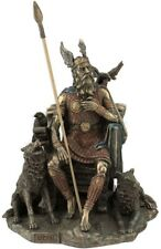 Odin Norse Viking God in Throne Statue Sculpture Mythology Collectible Figurine