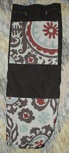 Hugger Mugger Yoga Pilates Mat Large Carry Bag Floral Strap Brown