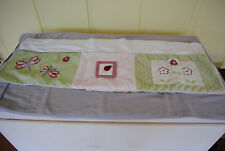 Valence for Kids room - Dragonfly, ladybugs and flowers. Pink, green and white
