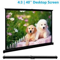 40'' Projector Screen 4:3 Desktop Screen Backyard Conference for BenQ Acer Epson