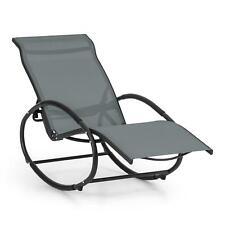 Blumfeldt Schaukel Liege Stuhl Sitz Lehne Balkon Lounge Poolliege grau