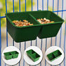 2 in 1 Parrot Food Water Bowl Cups Bird Pigeons Cage Sand Cup Feeding Feeder