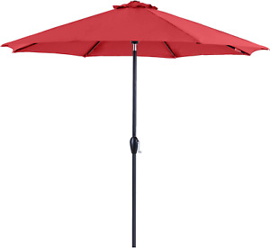 Umbrella Sturdy Ribs Dyed Polyester Water Repellent UV Resistant Coating Patio