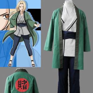 BNaruto Anime Tsunade Cosplay Costume Halloween Cos Clothes Free shipping