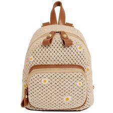 2020 Women's Mini Backpack Straw Woven Bag Backpack School knapsack Travel Bag