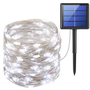 20m-200&LED_Solar Strip Fairy Copper Wire String Lights Xmas Party Garden Decor