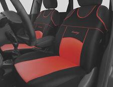 2 RED FRONT Eco Pelle Coprisedili Protettori Per Honda Jazz