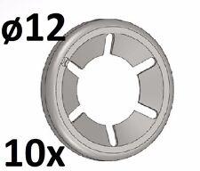 10x Stk Starlock 12 mm Unterlegscheibe Sicherungsscheibe Achs-Klemmring verzinkt
