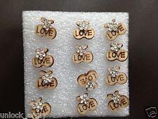 The Love Apple Swarovski Crystal Bling Handmade Stud Earrings Brown 6 Pairs A38
