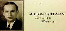 "1932 RUTGERS UNIVERSITY YEARBOOK ""The Scarlet Letter""~MILTON FRIEDMAN"