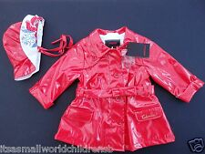 baby girl RAINCOAT & HAT by CATIMINI waterproof 6M (eu67) BNWT