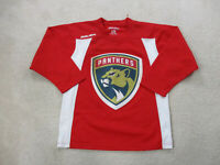 Bauer Florida Panthers Hockey Jersey Adult Large Red White NHL Mens *