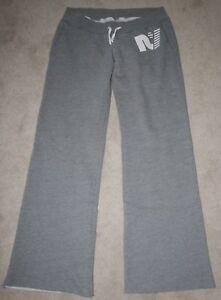 Women's Rebel Yell Boyfriend Sweatpants Gray Lounge Pants Size Large