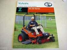 Kubota ZG/ZD Zero-Turn Mower Literature