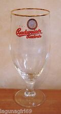 Budweiser Budvar Czech Lager Beer Stemmed Pint Glass Pub Home Bar Unused M13