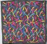 MISSONI   foulard- Tour de cou soie  en mousseline TBEG vintage  38 x 38 cm
