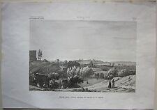 1845 AVANZI ANTICO TEATRO DI SIRACUSA IN SICILIA Zuccagni Orlandini acquaforte