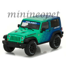 GREENLIGHT 86090 2014 JEEP WRANGLER RUBICON FALKEN TIRES 1/43 DIECAST BLUE GREEN