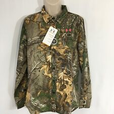 Under Armour Womens All Season Gear Performance Field Shirt Realtree Xtra Medium