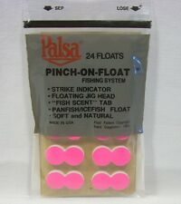 Palsa Package of 24 Flourescent Pink Pinch on Floats Fishing System
