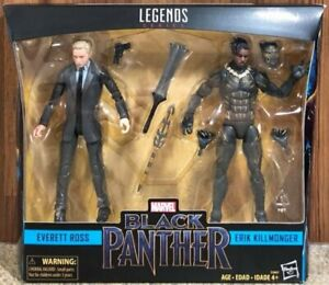 "Hasbro Marvel Legends Serie Black Panther 6 ""Zoll Everett Ross & Erik Killmonger"