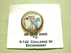 Girl Scout Pin CHALLENGE of ENVIRONMENT Cad.& Sr. NEW 1972 RARE VOLUME DISCOUNT