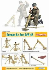 Action Figure 1/6 Dragon Model Kit German Kz 8cm GrW 42 - Mortier Allemand