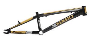 "HARO BLACKOUT PTC PRO XXXL 21.75 RACE FRAME BLACK GOLD 21.75"" BIKE BMX"