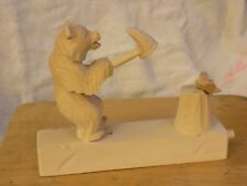Hand carved animated bear