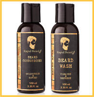 Rapid Beard Beard Shampoo & Beard Conditioner | Facial Hair Care Gift Set 100 ml