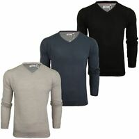 Xact Mens Jumper Fine Knit -  V Neck or Crew Neck