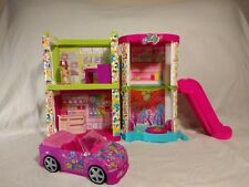 Polly Pocket Courtyard Playset Lights Up Candy & Electronics Shop Escalator 2008
