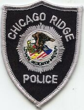 CHICAGO RIDGE ILLINOIS IL small POLICE PATCH