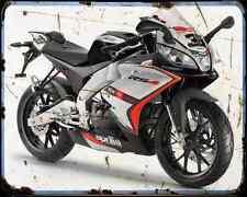 APRILIA Rs4 125 14 01 A4 Metal Sign moto antigua añejada De