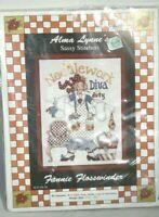 Sassy Stitchers Cross Stitch Kit DIVA DUTY Fannie Flosswinder Alma Lynne SS-04