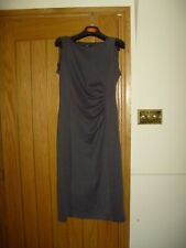 LADIES GEORGE OF ASDAS GREY STYLISH DRESS SIZE 10 - VGC