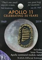 Nasa Apollo 11 Foot Prints 50th Anniversary Pin Contains Flown Metal