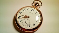 Patek Philippe Shreve & Co pocket watch 14K solid gold open face, 1.8inches wide