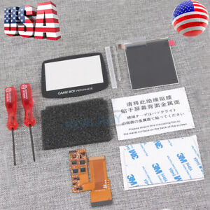 For Nintendo Gameboy Advance GBA IPS V2 screen Backlit Mod LCD Backlight Kit USA