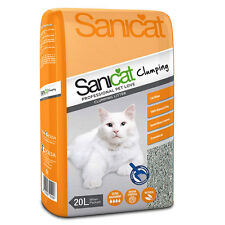 SANICAT CLUMPING CAT LITTER RAPID ABSORBTION AND ODOUR CONTROL 20 LITRE