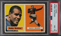 1957 Topps FB Card # 7 Bobby Watkins Chicago Bears PSA NM-MT 8 !!!