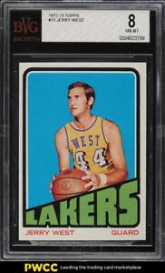 1972 Topps Basketball Jerry West #75 BVG 8 NM-MT