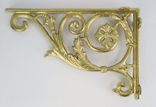 Winkel Wandhalterung Eisen Antik rustikal Regalbretter Regalwinkel Wand golden