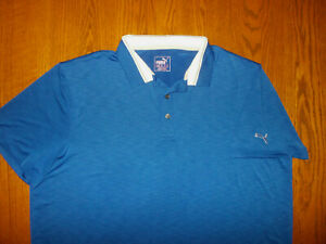 PUMA DRY CELL SHORT SLEEVE BLUE GOLF POLO SHIRT MENS XXL EXCELLENT CONDITION
