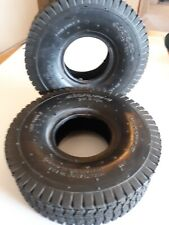 Pair of (2) 4.10/3.50-4 Tires  4 Ply New take offs inner tubes not included
