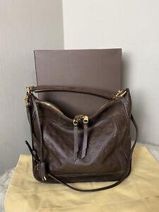 Authentic Louis Vuitton Empreinte  Brown Leather Audacieuse Shoulder Bag MM