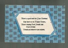 1909 Middletown NY USA Happy Birthday Swastika Postcard Cover
