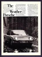 "1973 The Weather Porsche 914 photo ""Rain Sleet nor Gloom of Night"" print ad"